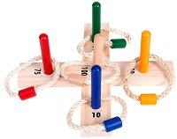 Рингове и мишени - Дървена играчка - играчка