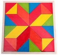 Геометрична мозайка - Дървена образователна играчка -