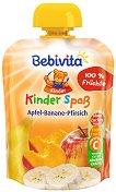 Bebivita - Забавна плодова закуска с ябълка, банан и праскова -