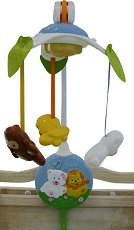 Музикална въртележка - Лъвче и мече - Играчка за бебешко креватче - играчка