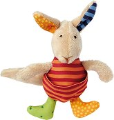 Кенгуру - Мека бебешка играчка с дрънкалка -