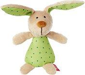 Зайче - Мека бебешка играчка с дрънкалка - играчка