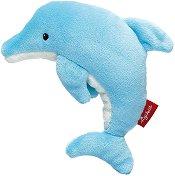 Делфин - Мека бебешка играчка с дрънкалка - играчка