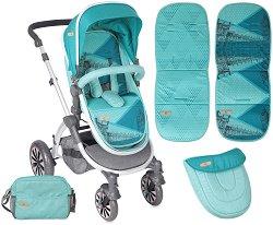 Комбинирана бебешка количка - Aurora 2017 - С 4 колела - количка