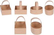Картонени кошнички - Комплект от 6 броя