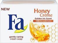 Fa Honey Creme Golden Iris Scent Cream Soap - Крем сапун с екстракт от мед и аромат на златен ирис - крем