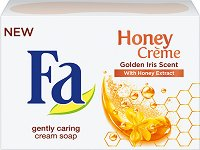 Fa Honey Creme Golden Iris Scent Cream Soap - Крем сапун с екстракт от мед и аромат на златен ирис - гел