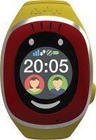 Детски GPS и GSM смарт часовник с тъч скрийн - MyKi Touch Red - Работещ със SIM карти на всички български мобилни оператори
