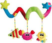 Морски животни - Colorful ocean - Мека играчка за бебешко креватче или количка -