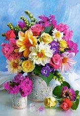 Букет цветя - пъзел