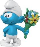 """Смърф с букет цветя - Фигура от серията """"Малки Смърфове"""" -"""
