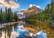Утринно слънце в Скалистите планини - пъзел