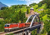 Влак на моста - пъзел