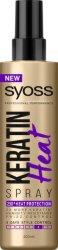 """Syoss Keratin Heat Spray - Термозащитен спрей за коса с кератин от серията """"Keratin"""" - крем"""