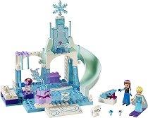 """Замръзналата площадка на Елза и Анна - Детски конструктор от серията """"LEGO Juniors"""" -"""