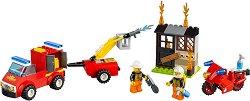"""Пожарникарски патрул - Детски конструктор в куфарче от серията """"LEGO Juniors"""" -"""