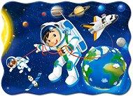 Разходка в космоса - Пъзел в нестандартна форма с едри елементи - пъзел