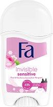Fa Invisible Sensitive Anti-Perspirant Stick - Дамски стик дезодорант против изпотяване за чувствителна кожа - шампоан