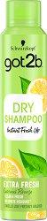 """Got2b Fresh It Up Dry Shampoo Extra Fresh - Сух шампоан за дълготрайна свежест от серията """"Fresh It Up"""" - дезодорант"""