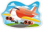 Самолет - Пъзел в нестандартна форма с едри елементи -