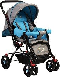 Лятна бебешка количка - Mina - С 4 колела - количка