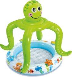 Надуваем бебешки басейн със сенник - Октопод -