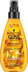 Gliss Thermo-Protect Blow-Dry Oil - Термозащитно олио за коса - душ гел