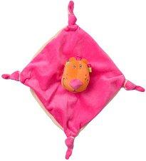 Лъвче - Бебешка играчка за гушкане с дрънкалка -