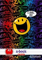 """Ученически тетрадки : Формат A5 - Комплект от 5 броя с 20 листа от серията """"SmileyWorld"""" - продукт"""