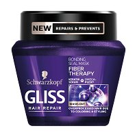 """Gliss Fiber Therapy Bonding Seal Mask - Възстановяваща маска за третирана и увредена коса от серията """"Fiber Therapy"""" - продукт"""