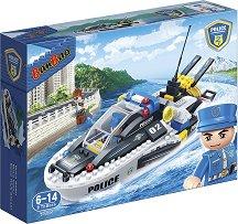 """Полицейска лодка - Детски конструктор от серията """"BanBao Police"""" -"""