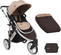 Комбинирана бебешка количка - Calibra 2017 - С 3 колела - количка