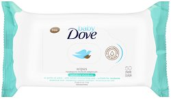 """Baby Dove Wipes Sensitive Moisture - Бебешки мокри кърпички за чувствителна кожа в опаковка от 50 броя от серията """"Baby Dove"""" -"""