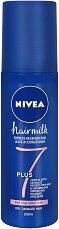 """Nivea Hairmilk 7 Plus Instant Regenaration Spray - Спрей балсам за коса с тънка структура от серията """"Hairmilk"""" - дамски превръзки"""