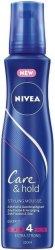 Nivea Care & Hold Regenerating Mousse - Пяна за коса със силна фиксация -