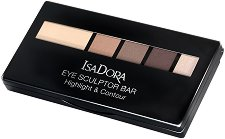 IsaDora Eye Sculptor Bar Highlight & Contour - Палитра сенки за скулптуриране на очи - молив