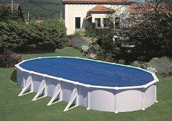 Изотермично овално покривало за басейн с размери 605 x 370 cm -