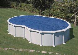 Изотермично овално покривало за басейн с размери 995 x 545 cm -
