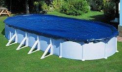 Oвално покривало за басейн с размери 820 x 460 cm -