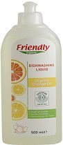 Почистващ препарат за съдове за хранене с портокалово масло -