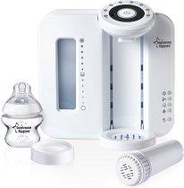 Електрически уред за приготвяне на адаптирано мляко - В комплект с шише 150 ml и силиконов биберон за бебета от 0+ месеца -