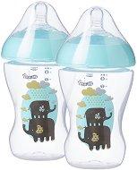 Бебешки шишета за хранене - Ultra 260 ml - Комплект от 2 броя със силиконов биберон за бебета от 0+ месеца -