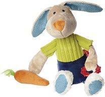 Заек с морков - Плюшена играчка с дъвкалка -