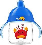 Неразливаща се чаша с твърд накрайник и дръжки - 260 ml - За бебета над 12 месеца -