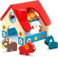 Мини ферма - Дървена играчка -