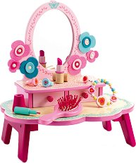Детска тоалетка с аксесоари - Flora - Дървена играчка -