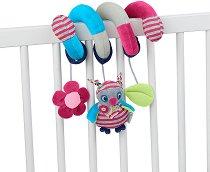 Бухалчето Emilie - Мека играчка за бебешко креватче или количка -