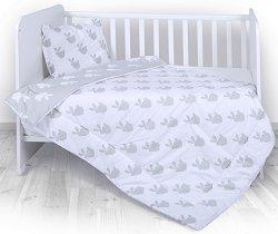 Спален комплект за бебешко креватче - 4 части с олекотена завивка -
