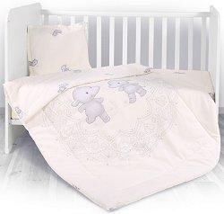Спален комплект за бебешко креватче - 3 части -