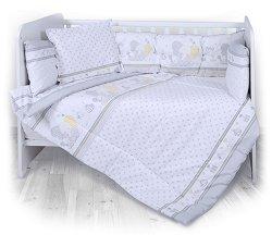 Спален комплект за бебешко креватче - 5 части, за матрак с размери 70 x 140 cm -